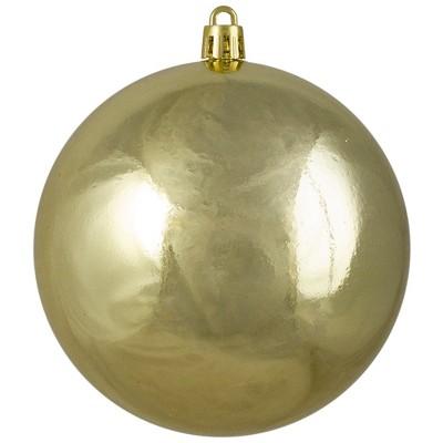 Northlight Shiny Gold Shatterproof Christmas Ball Ornament 4 100mm Target