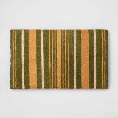 Door Mat Stripe - Green / Yellow - Smith & Hawken™