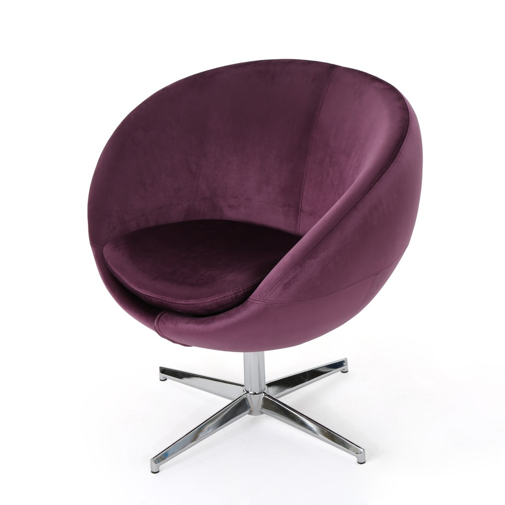 Isla Modern New Velvet Chair Raisin Brown - Christopher Knight Home