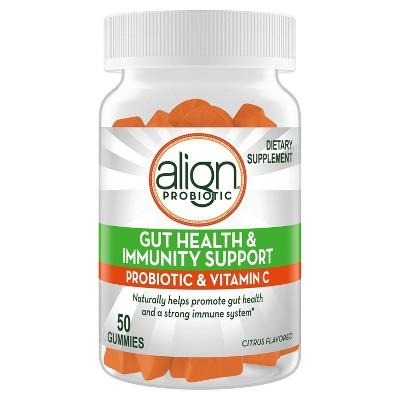 Align Probiotic Gut Health & Immunity Support Citrus Flavor Gummies - 50ct