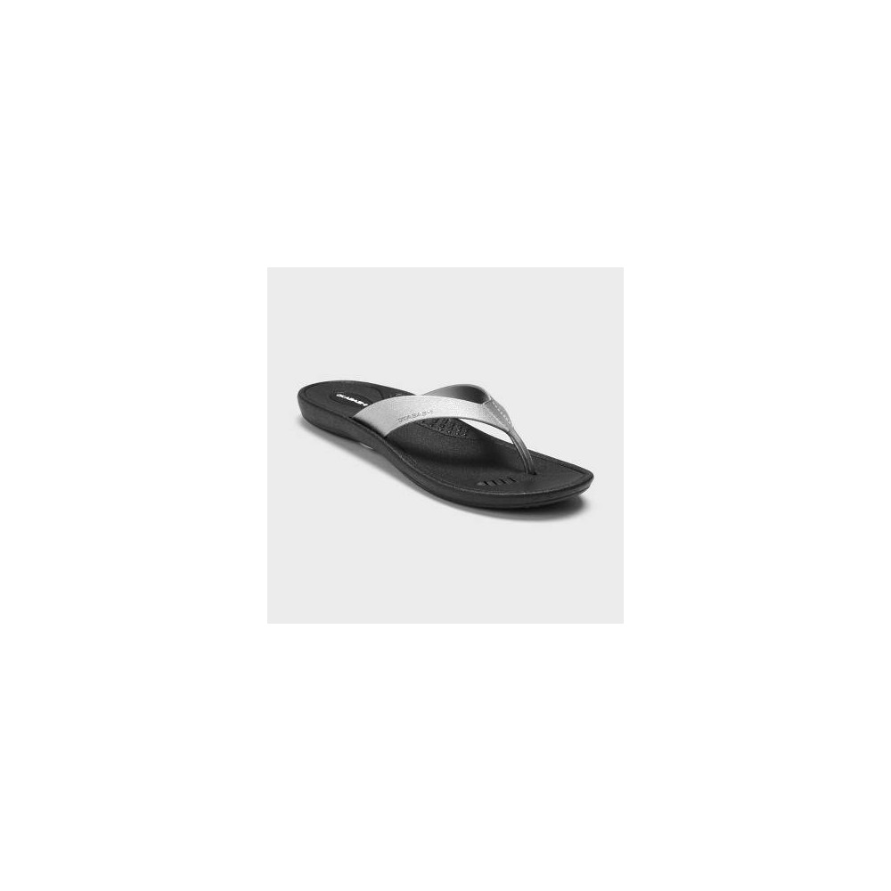 Womens Breeze Sustainable Flip Flop Sandals - Okabashi - Silver XL(11-12) Compare