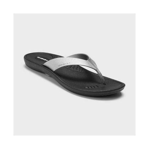 147e20419cc5dc Women s Breeze Flip Flop Sandals - Okabashi - Silver M(8-9)   Target