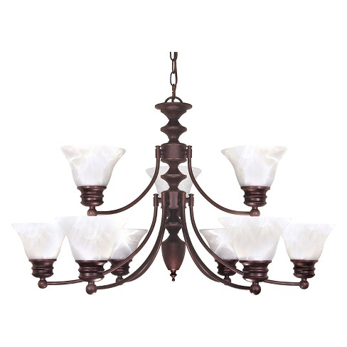 Aurora Lighting 9 Light Old Chandelier Bronze - image 1 of 1