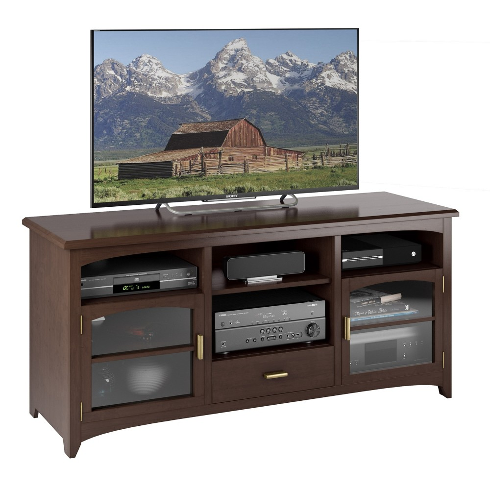"Image of ""Carson West Lake TV Component Bench Dark Espresso 60"""" - Sonax"""