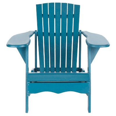 Elba Wood Patio Adirondack Chair - Blue - Safavieh