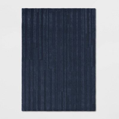 5'X7' Westover Striped Solid Rug Navy - Threshold™