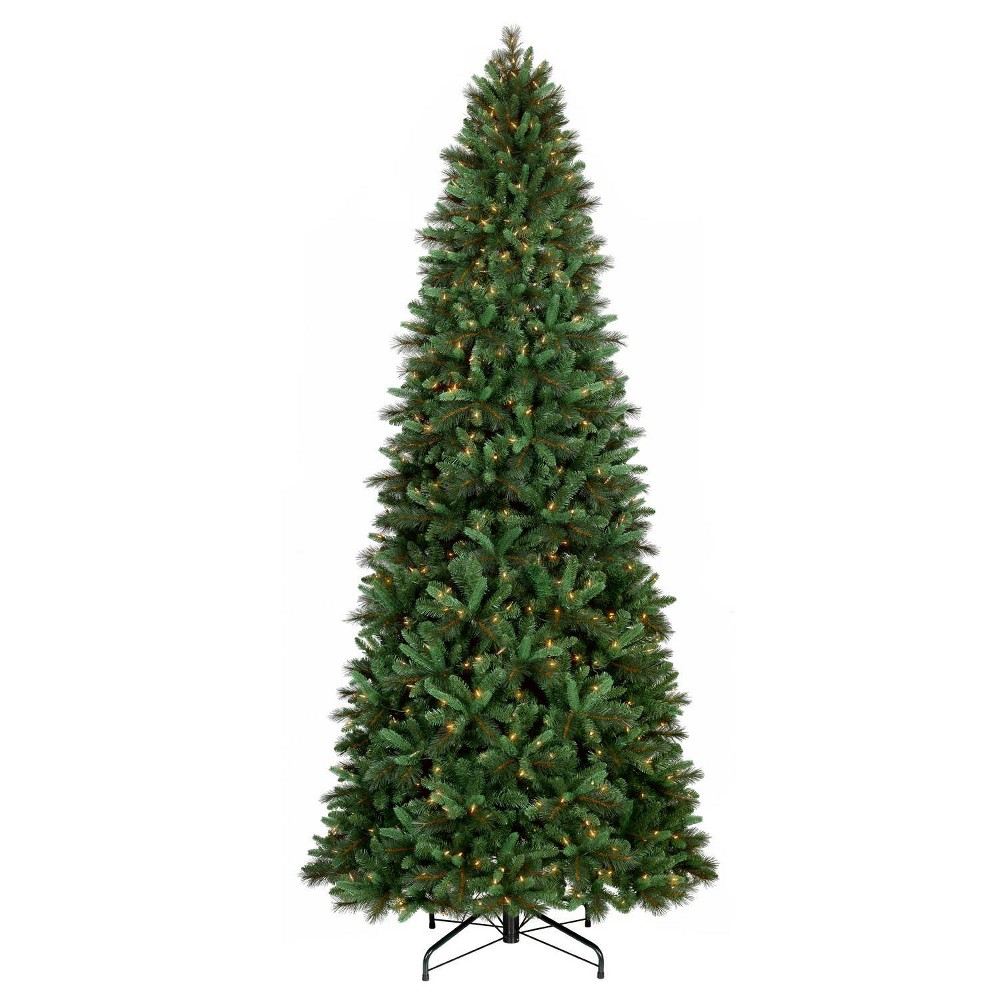 Image of Philips 10.5ft Pre-lit Full Artificial Christmas Tree Balsam Fir - Warm White LED Lights, Green