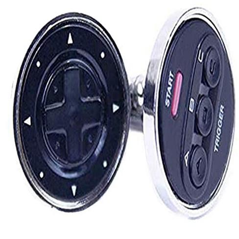 Rubber Road SEGA Genesis Controller Cufflinks Black - image 1 of 2