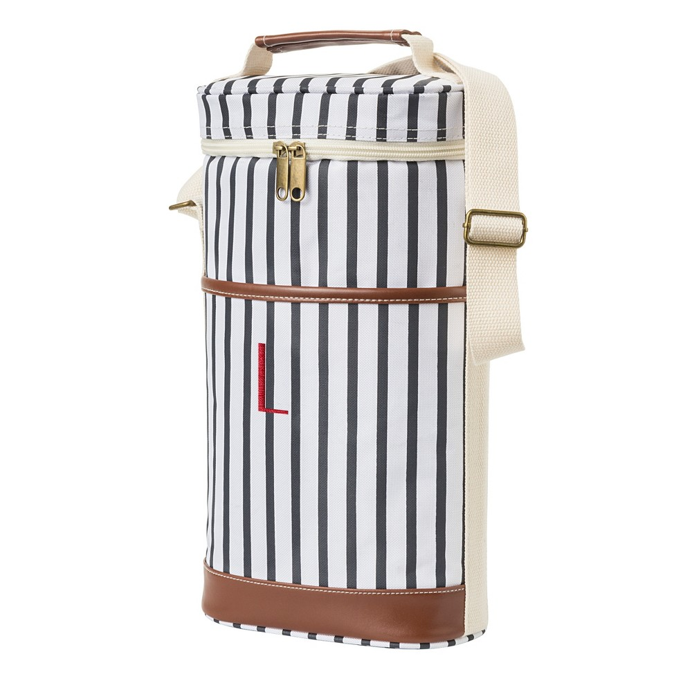 Cathy's Concepts Striped Wine Cooler - L, Blue Brown White