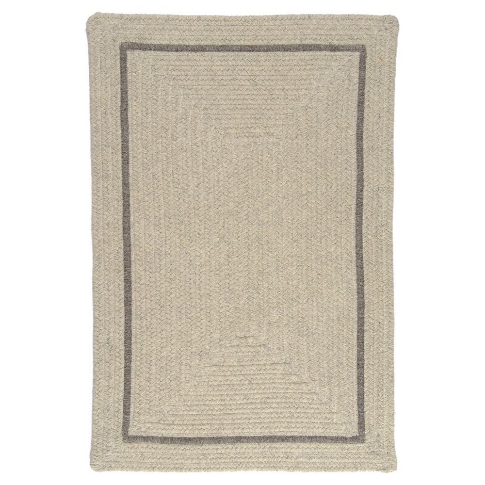 Shear Natural Braided Area Rug - Cobblestone - (8'x11') - Colonial Mills
