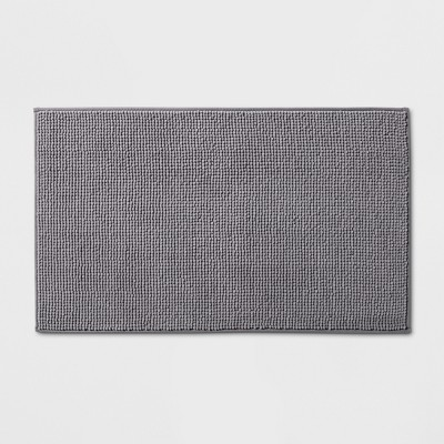 34 x20  Solid Bath Rug Dark Gray - Made By Design™