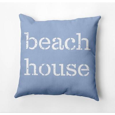 "18""x18"" 'Beach House' Square Throw Pillow - e by design"