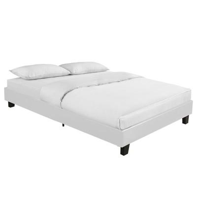 Acton White Queen Bed in White - Camden Isle