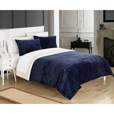 Ernest 7 Piece Bed In a Bag Sherpa Blanket