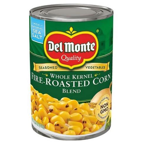 del monte whole kernel fire roasted corn blend 14 5 oz target