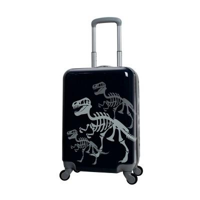 """Crckt 20"""" Kids' Hardside Carry On Spinner Suitcase - Dino Bones"""