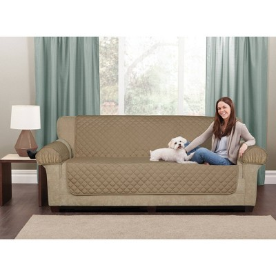 Tan 3pc Waterproof Loveseat Pet Throw - Maytex - Maytex