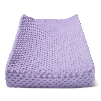 Plush Changing Pad Cover Solid - Cloud Island™ - Purple