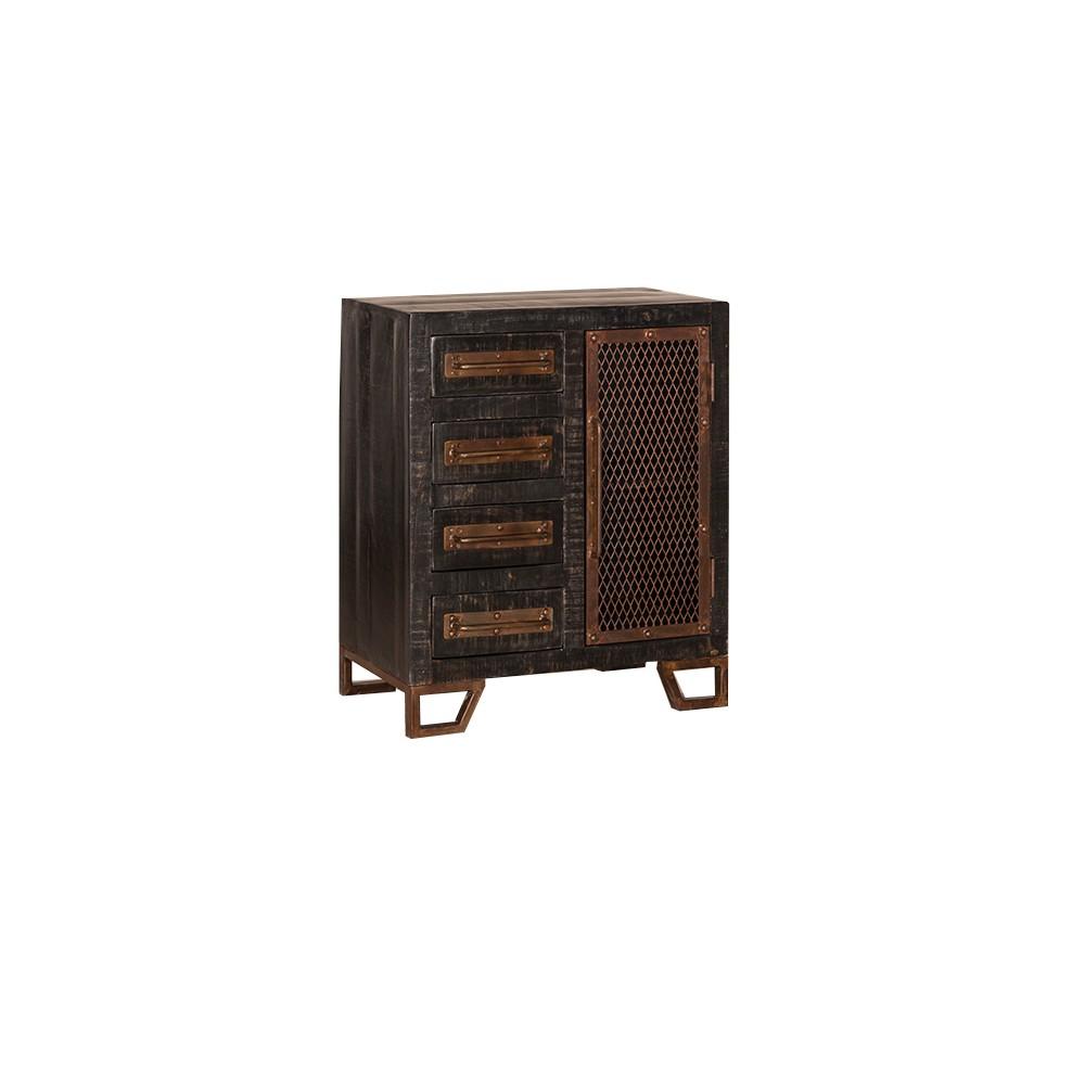 Bridgewater Accent Cabinet - Rubbed Black - Hillsdale Furniture