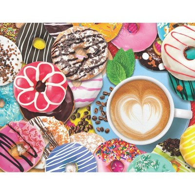Springbok Spring and Summer: Donuts N' Coffee Puzzle 500pc
