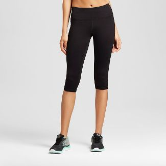 "Women's Everyday Mid-Rise Knee Tights 17"" - C9 Champion® Black M"