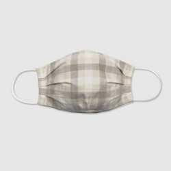 Women's 2pc Fabric Face Masks - Universal Thread™ Gray Check/Gray Solid