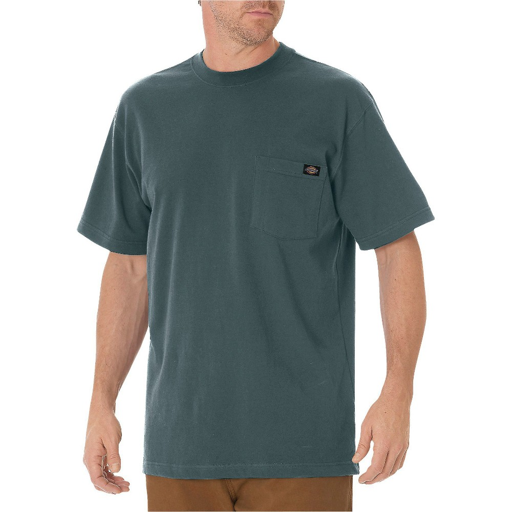 Dickies Men's Cotton Heavyweight Short Sleeve Pocket T-Shirt- Lincoln Green Xxl