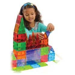 Magna-Tiles 100-Piece Clear Colors Set