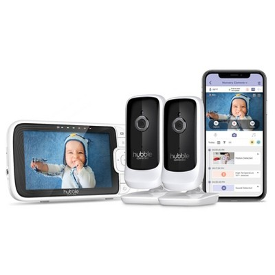 Hubble Connected Nursery Pal Link Premium Twin Monitor