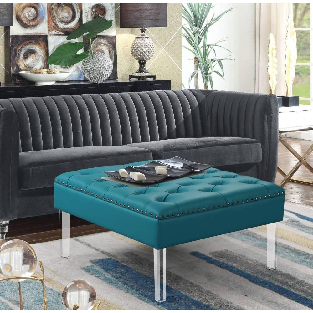 Remi Ottoman Aqua - Chic Home Design was $299.99 now $209.99 (30.0% off)