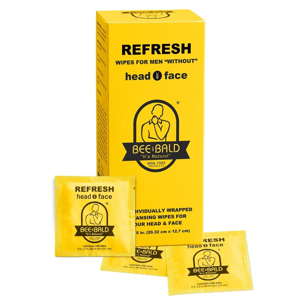 Bee Bald Refreshing Wipes After Shave Care - 30ct