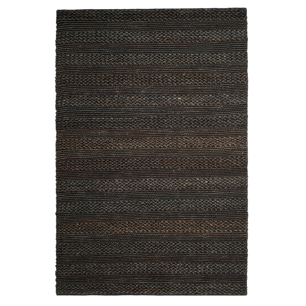 Charcoal (Grey) Solid Woven Area Rug 6'X9' - Safavieh