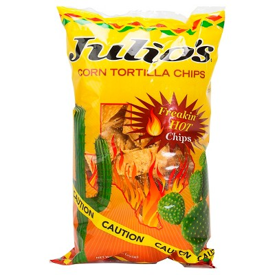 Julio's Freakin Hot Corn Tortilla Chips - 9oz