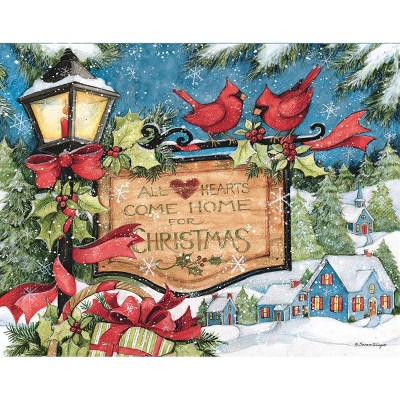 18ct Hearts Come Home Holiday Boxed Cards