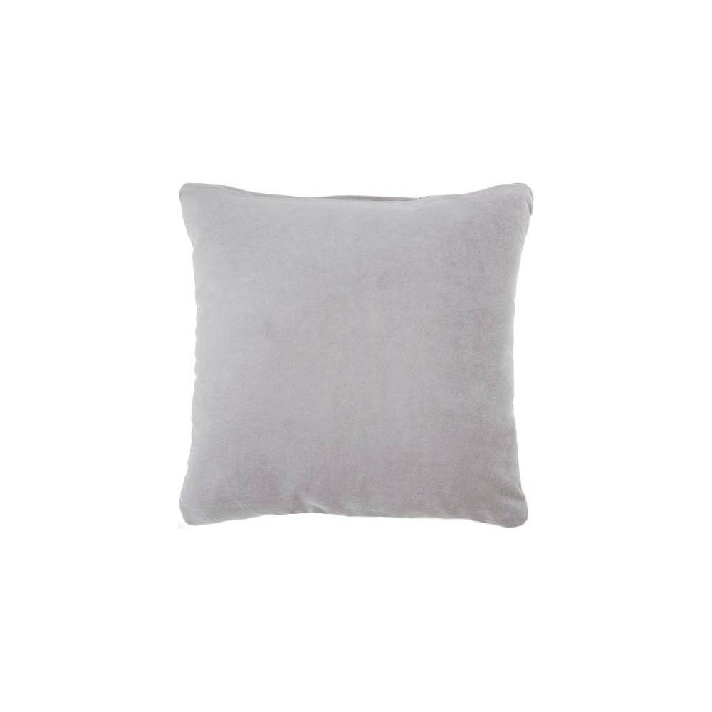 Image of Life Styles Solid Velvet Square Throw Pillow Gray - Nourison