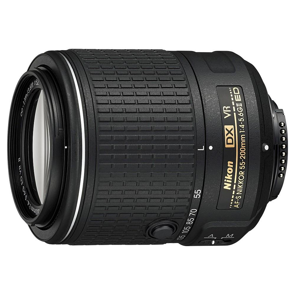 Nikon AF-S DX NIKKOR 55-200mm f/4-5.6G ED VR II Lens, Black