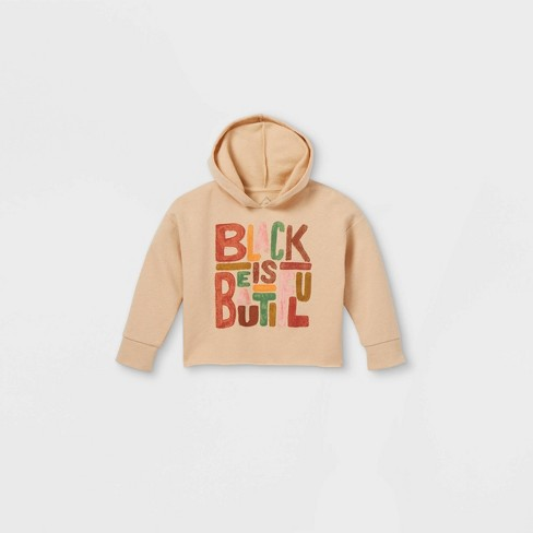 Black History Month Toddler 'Black Is Beautiful' Sweatshirt - Beige - image 1 of 2