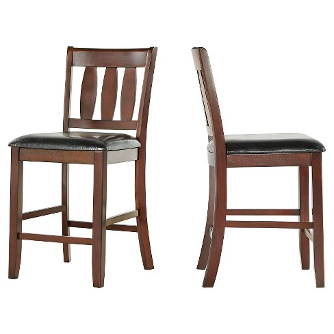"Montgomery 24"" Counter Stool- Brown (Set of 2) - Inspire Q - image 1 of 4"