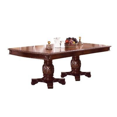 Chateau De Ville Extendable Dining Table with Double Pedestal Wood/Cherry - Acme Furniture