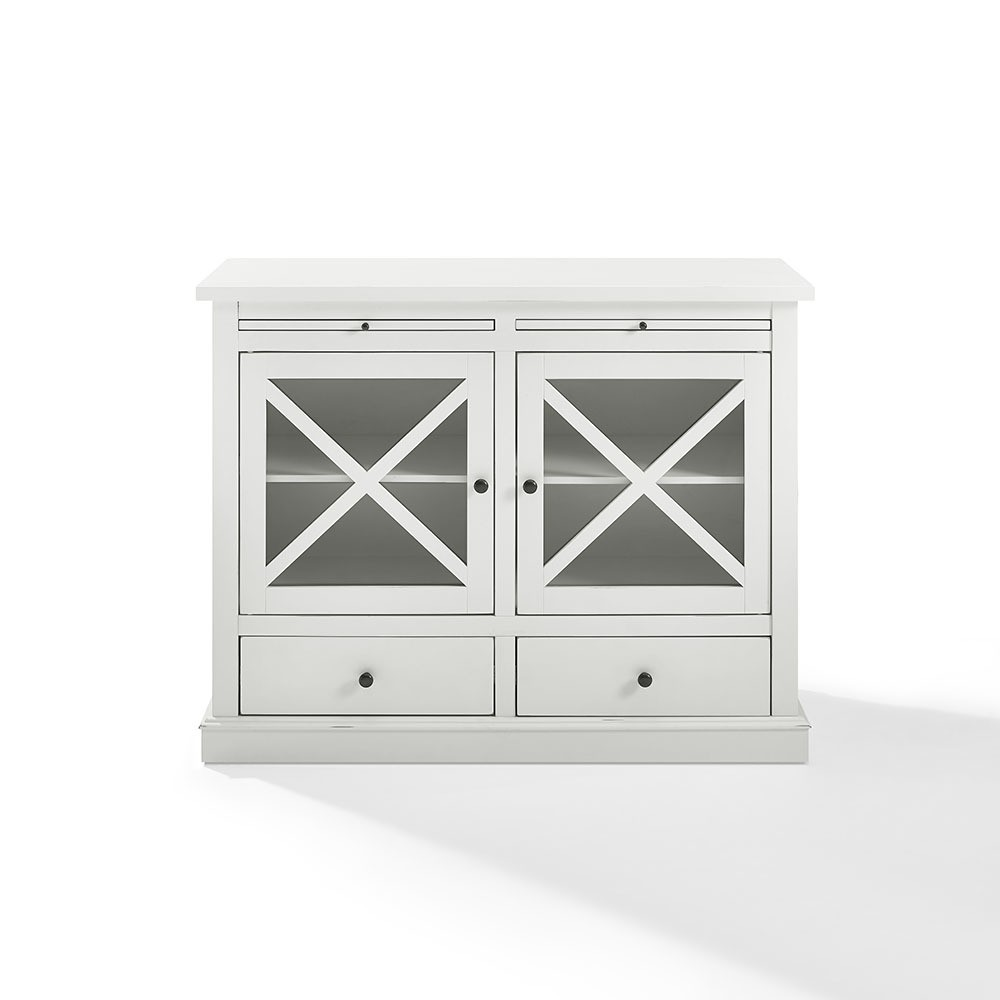 Crosley Furniture CF6121-WH Jackson Accent Cabinet with Glass Doors, White