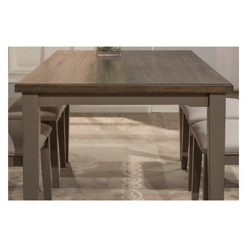 Clarion Rectangle Dining Table Distressed Gray Multistep Wirebrush Hilale Furniture Target
