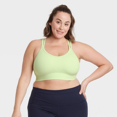 Women's Medium Support Ribbed Seamless Bra - All in Motion™