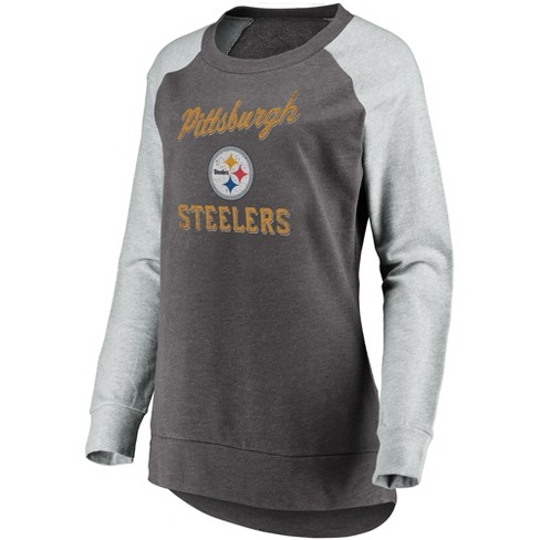 NFL Pittsburgh Steelers Women s Brushed Tunic  Gray Crew Neck Fleece  Sweatshirt f734ff2e9