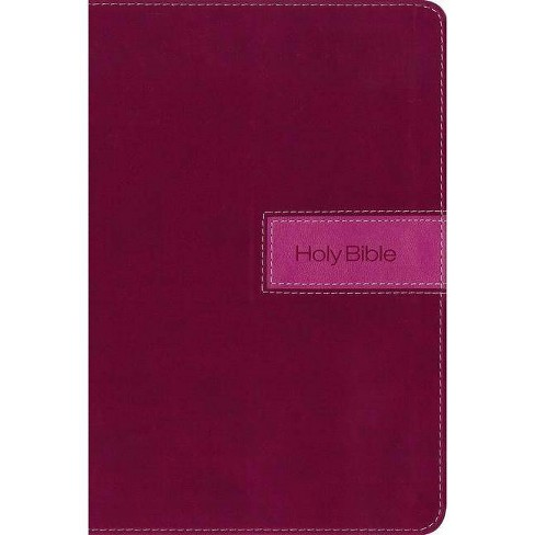 NIV, Gift Bible, Imitation Leather, Pink, Indexed, Red Letter Edition - by  Zondervan (Leather_bound) - image 1 of 1