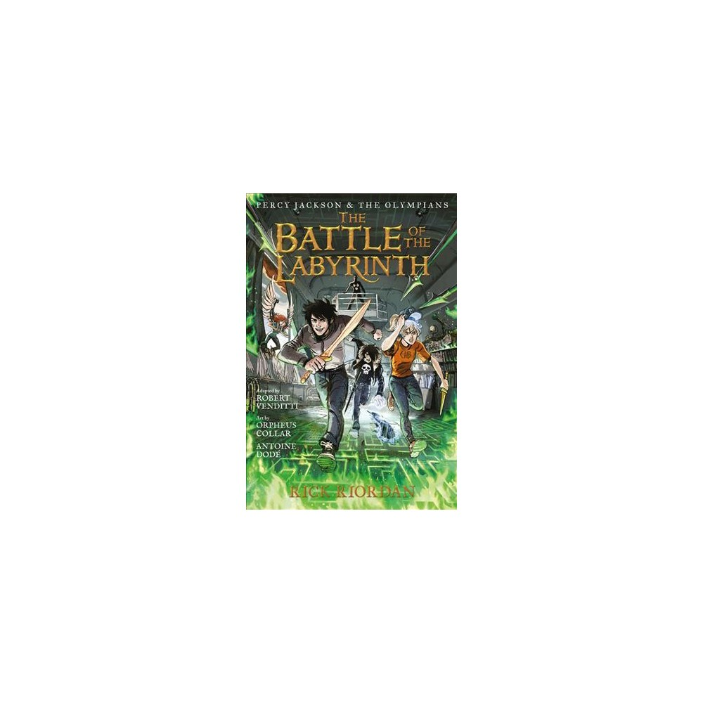Percy Jackson and the Olympians 4 : The Battle of the Labyrinth - by Rick Riordan (Hardcover)