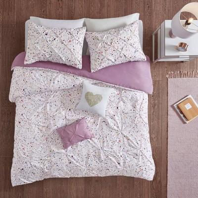 Nicole Printed and Pintucked Comforter Set