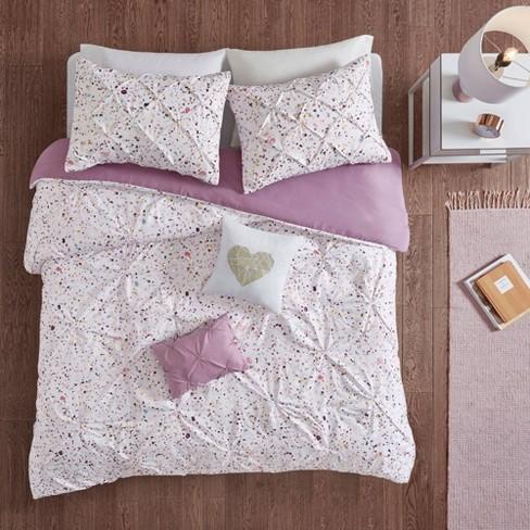 Nicole Printed and Pintucked Comforter Set - image 1 of 4