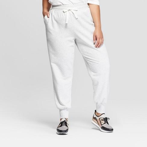f5275b533b1 Women s Plus Size Jogger Pants - Ava   Viv™ Gray   Target