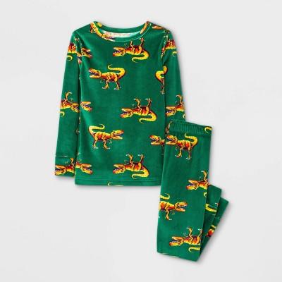Toddler Boys' Dino Tight Fit Pajama Set - Cat & Jack™ Green