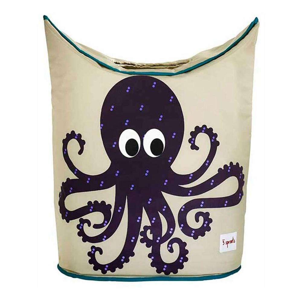 Image of Octopus Canvas Storage Hamper - 3 Sprouts, Multi-Colored